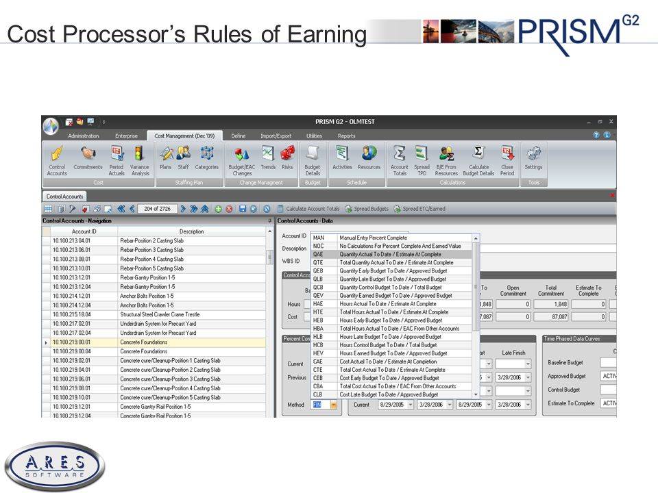 © 2011 All Rights Reserved Cost Processors Rules of Earning
