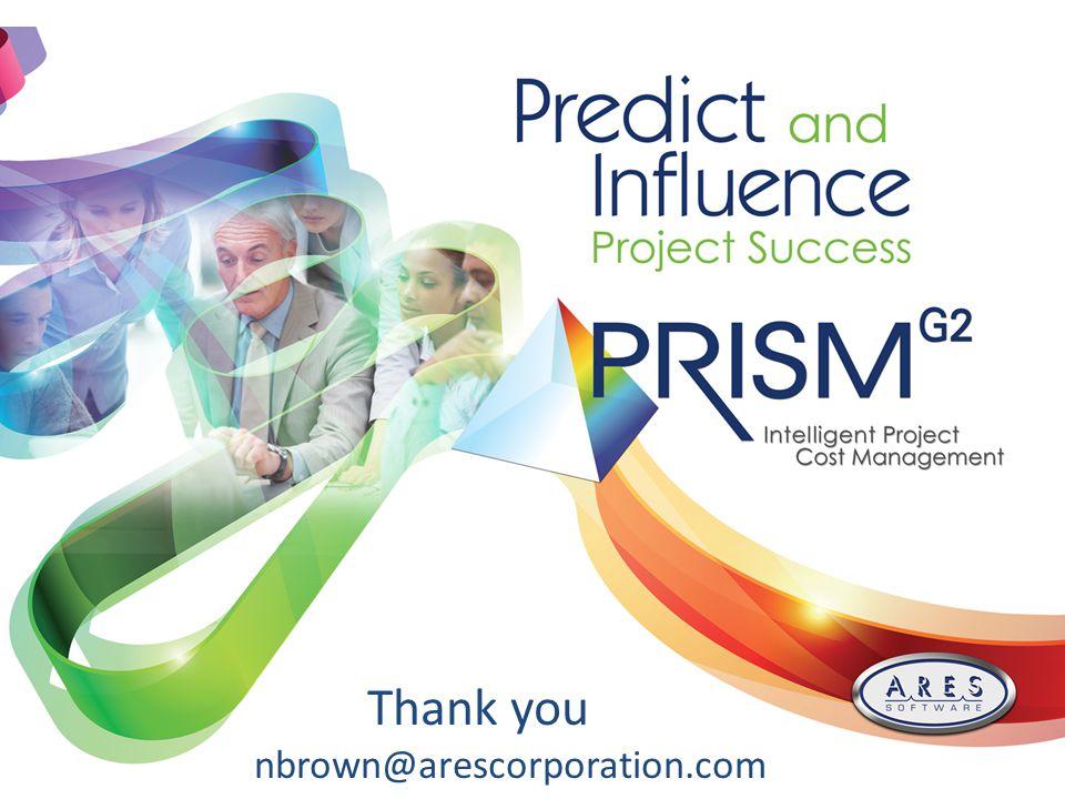Thank you nbrown@arescorporation.com