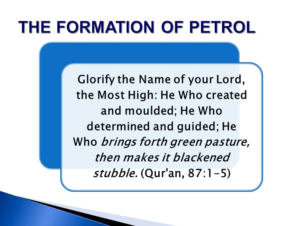 Glorify the Name of your Lord, the Most High: He Who created and moulded; He Who determined and guided; He Who brings forth green pasture, then makes it blackened stubble.