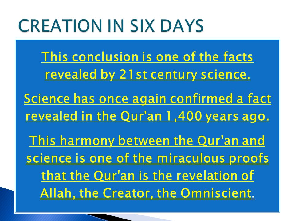 This conclusion is one of the facts revealed by 21st century science.