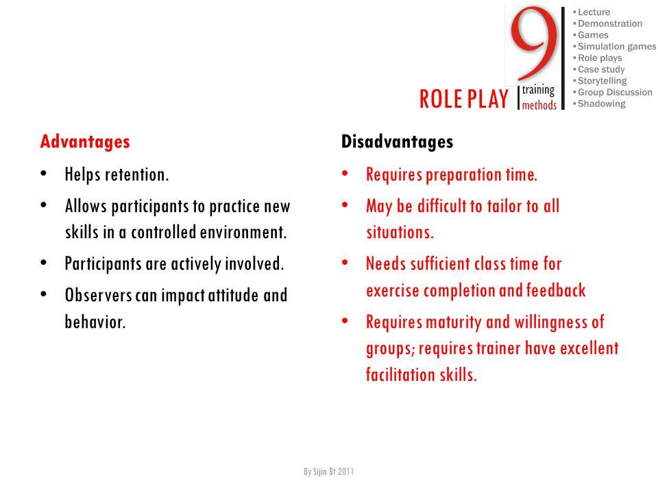 Advantages H elps retention.