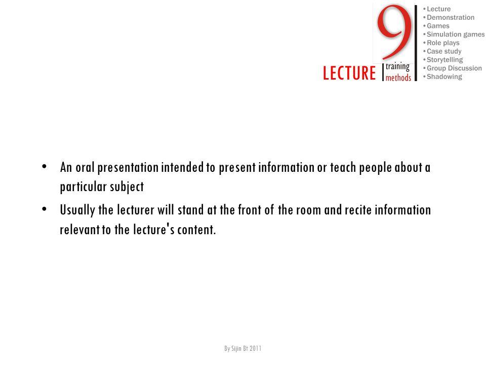 LECTURE Advantages C onveys large sum of information F ast E fficient forum allows exploration of content in more detail.