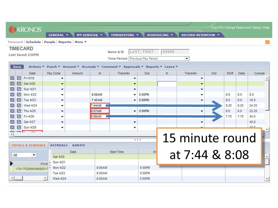 15 minute round at 4:52 & 5:08