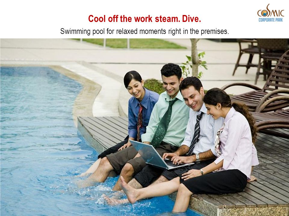 Cool off the work steam. Dive. Swimming pool for relaxed moments right in the premises.