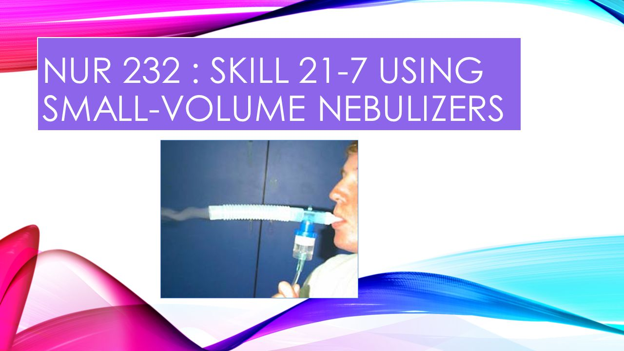 INTRODUCTION Nebulization is a process of adding medications or moisture to inspired air by making particles of various sizes with air.