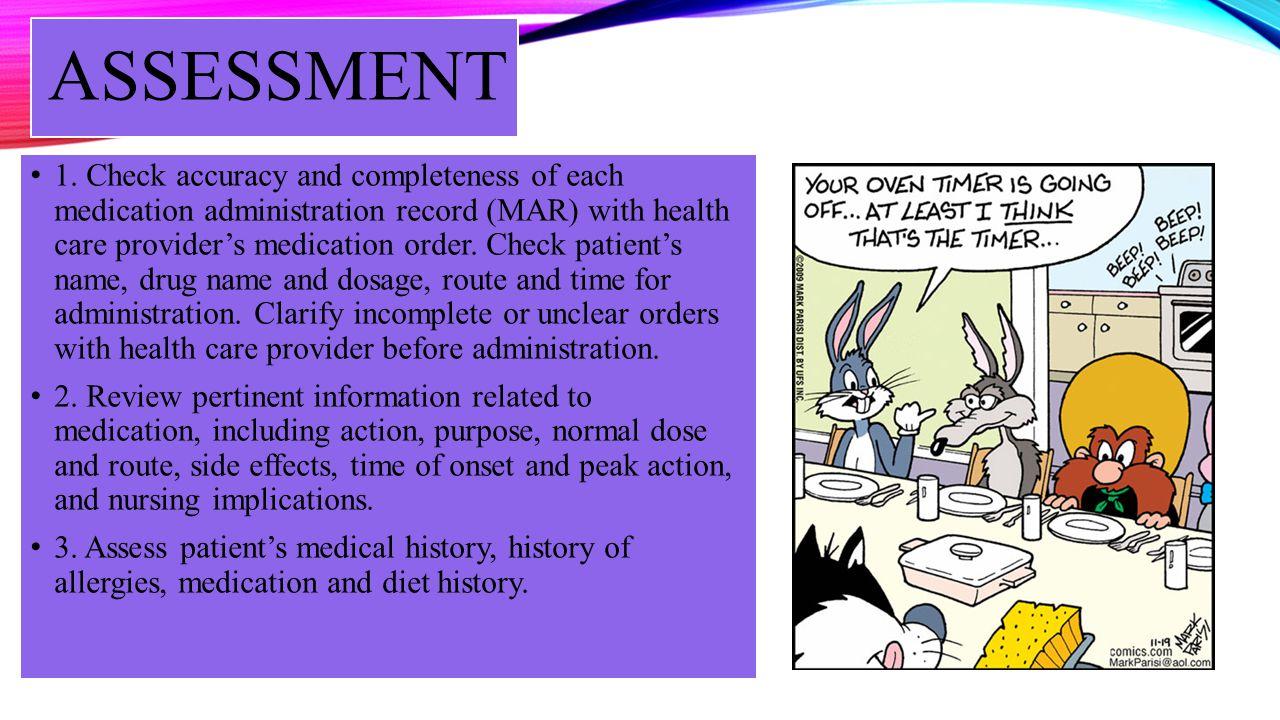 ASSESSMENT – CONTD 4.