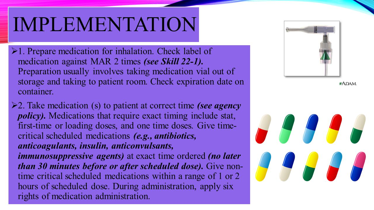 IMPLEMENTATION – CONTD 3.Perform hand hygiene and arrange equipment needed.
