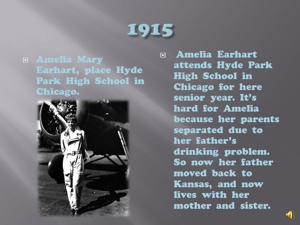 1908 Amelia Mary Earhart is 11 years old. Taking place in Iowa state fair Des Moines. One day at the Iowa State fair in Des Moines. Amelia gets to see