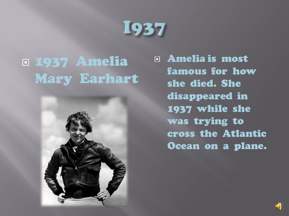 Amelia Mary Earhart, place Hyde Park High School in Chicago. Amelia Earhart attends Hyde Park High School in Chicago for here senior year. Its hard fo