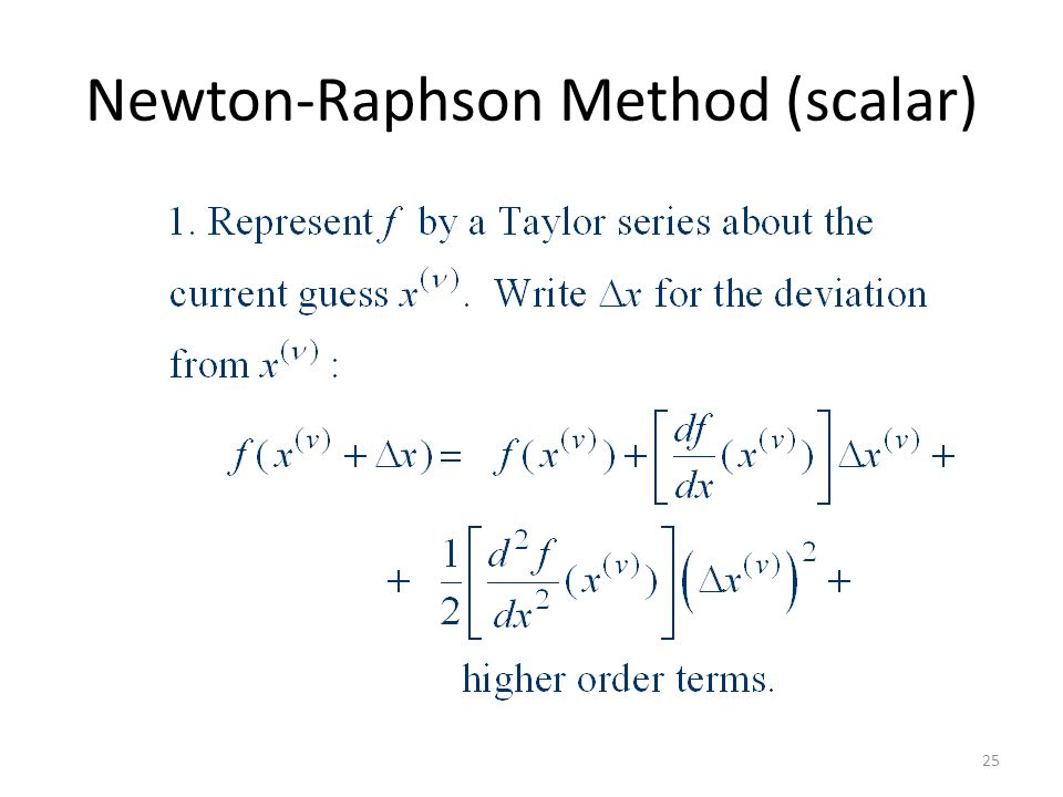 Newton-Raphson Method (scalar) 25
