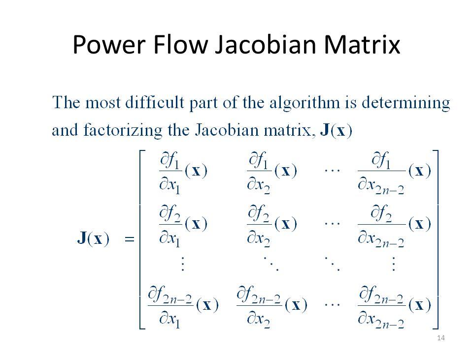 Power Flow Jacobian Matrix 14