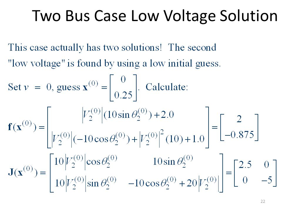 Two Bus Case Low Voltage Solution 22