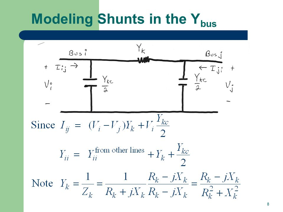 8 Modeling Shunts in the Y bus