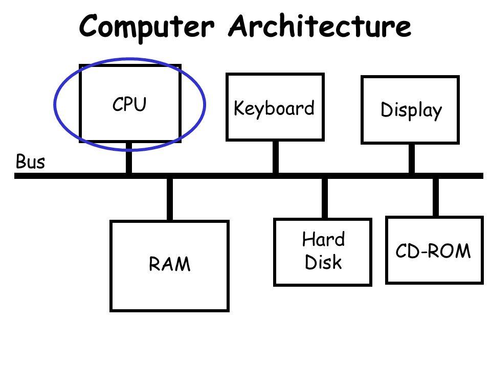 Computer Architecture Bus CPU RAM Keyboard Hard Disk Display CD-ROM
