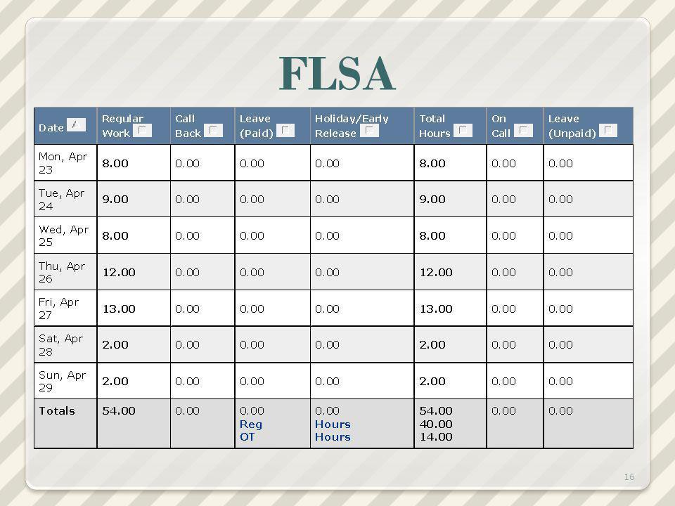 FLSA 16