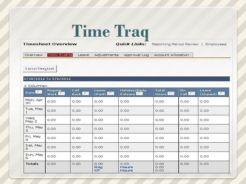 Time Traq 19