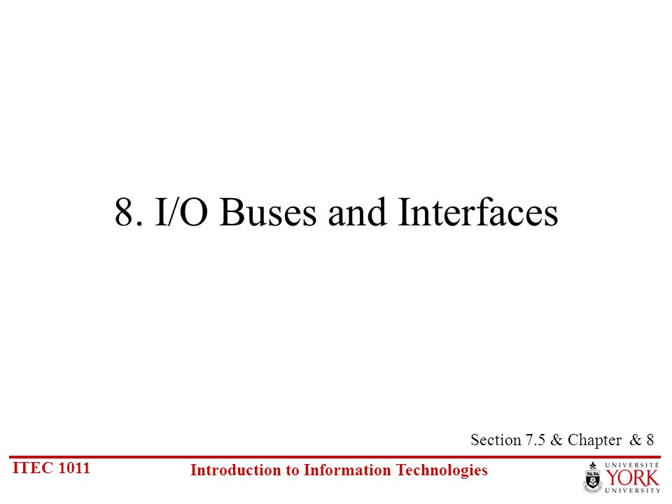 ITEC 1011 Introduction to Information Technologies 8.