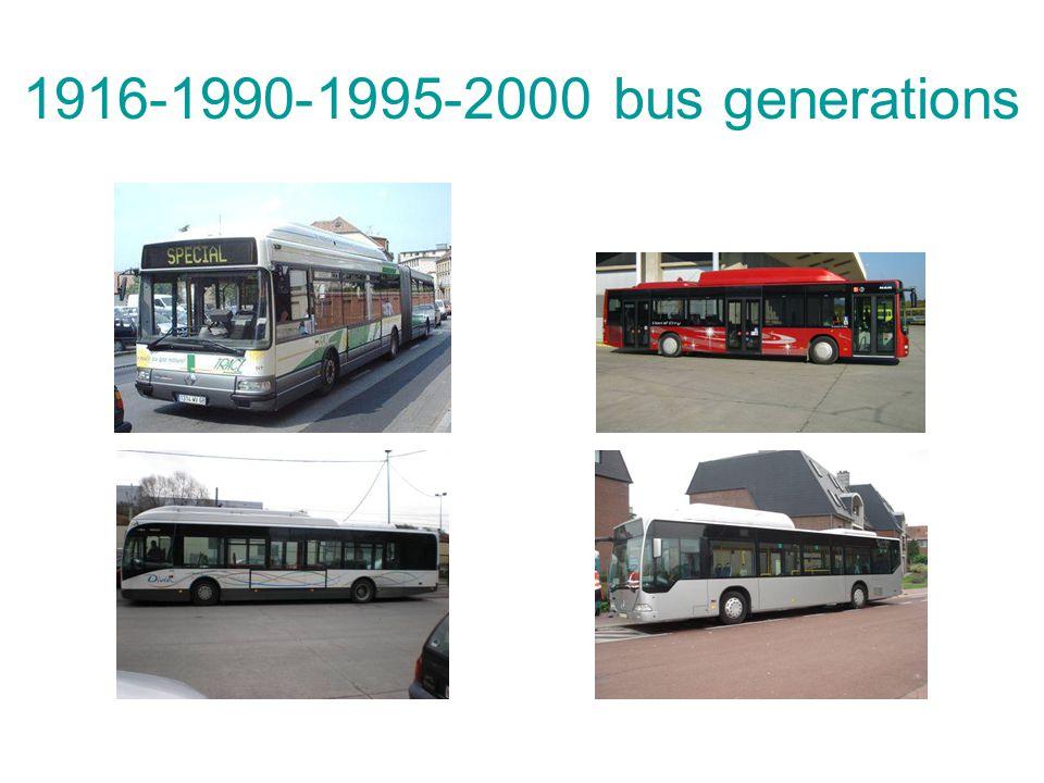 1916-1990-1995-2000 bus generations