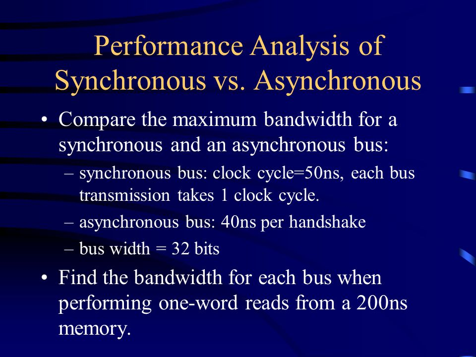 Performance Analysis of Synchronous vs.