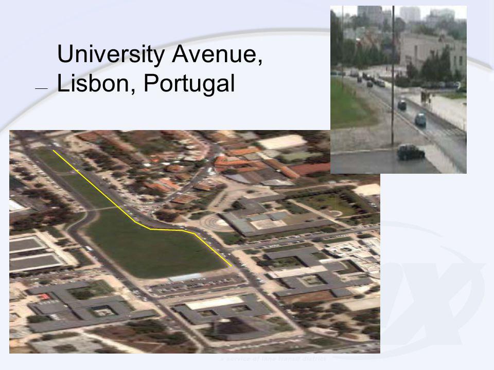 University Avenue, Lisbon, Portugal