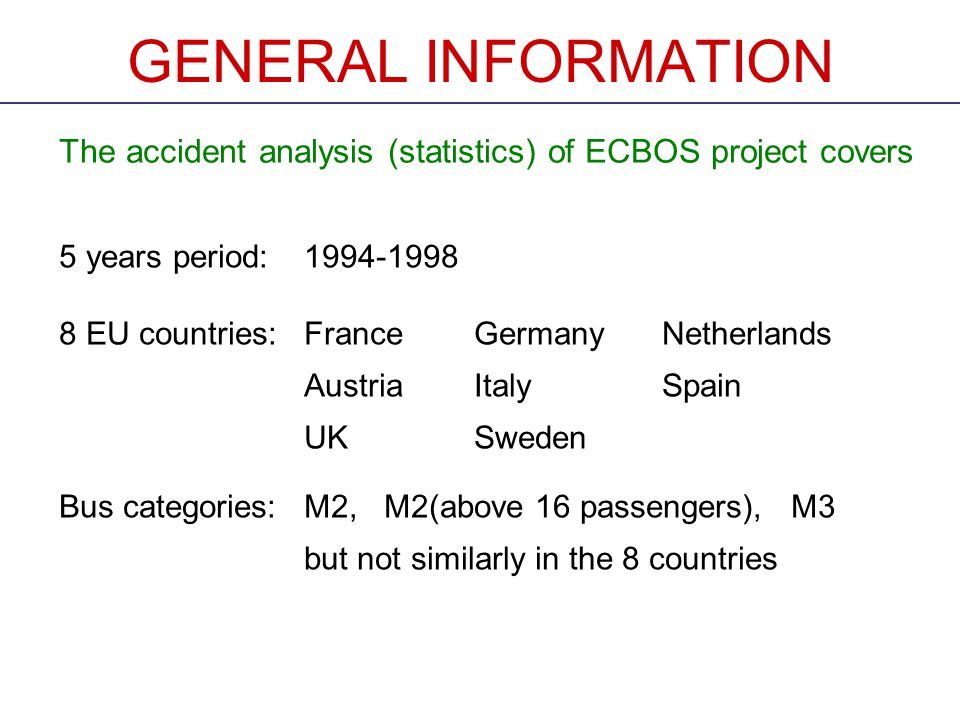 PROPOSAL OF AN EXPERT GROUP (MADRID MEETING) This table was presented in the inform.doc.