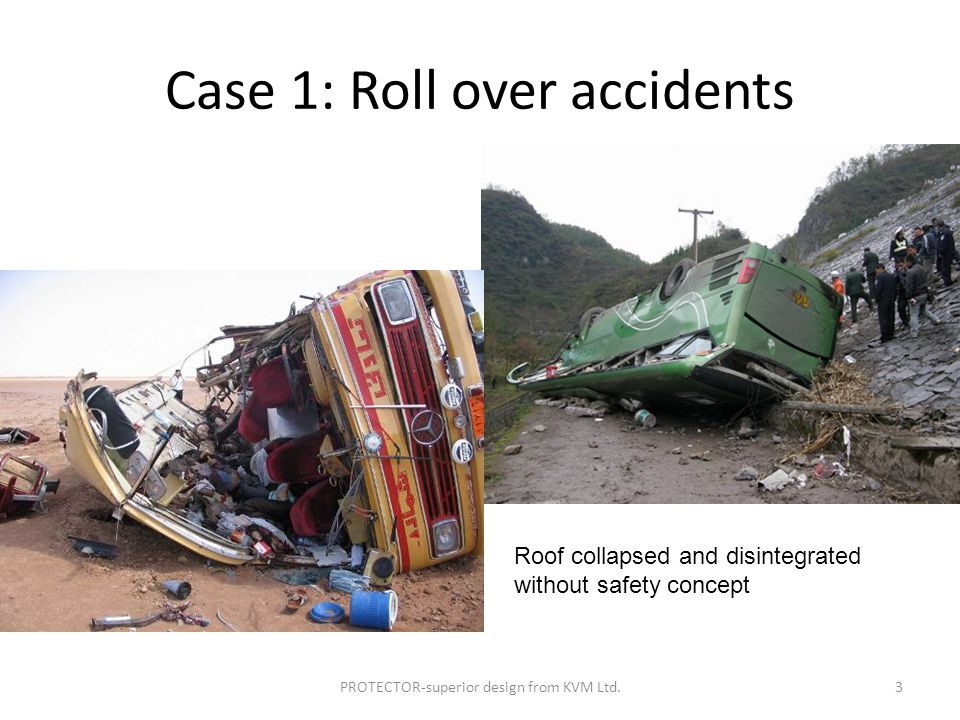Case 1: Roll over accidents PROTECTOR-superior design from KVM Ltd.