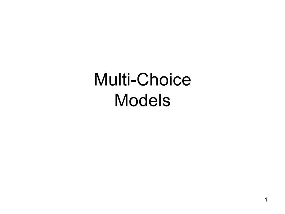 1 Multi-Choice Models