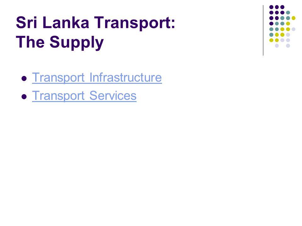 Sri Lanka Transport: The Supply Transport Infrastructure Transport Services