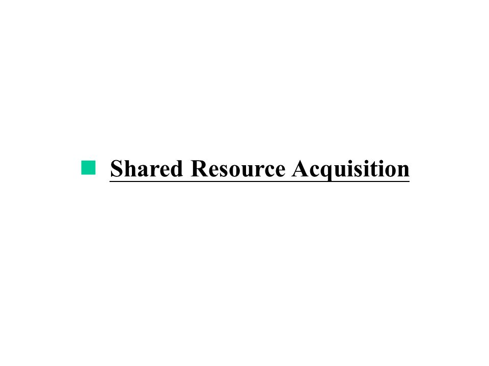Shared Resource Acquisition