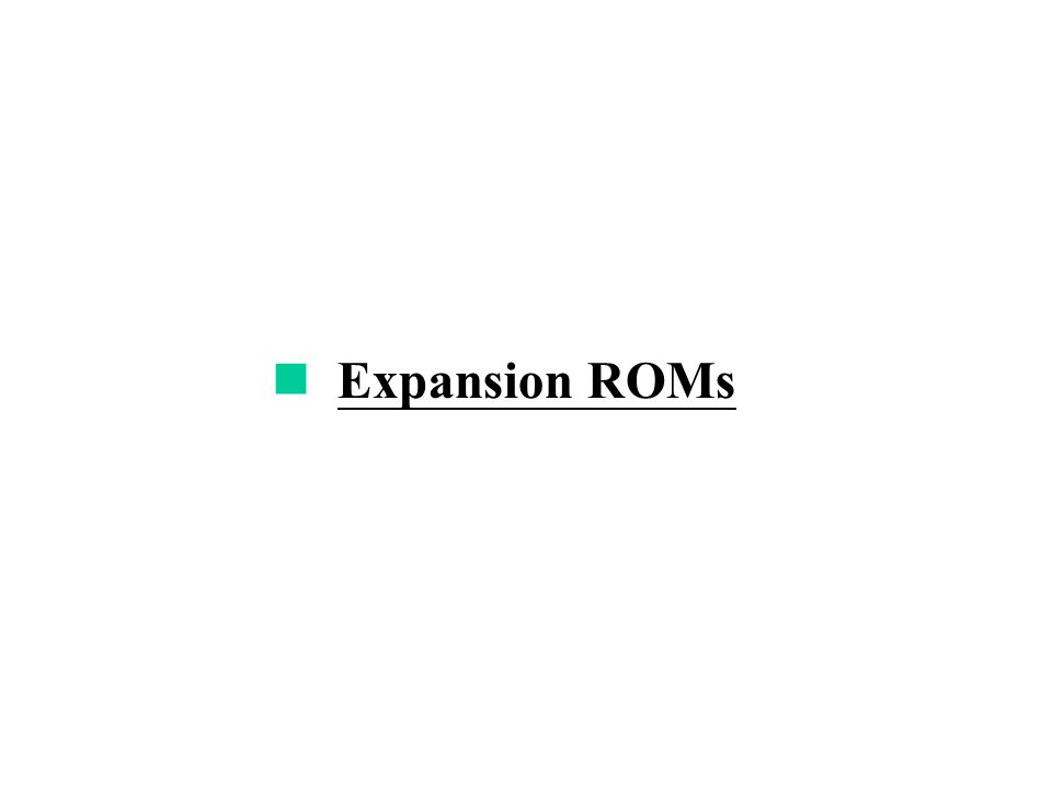 Expansion ROMs