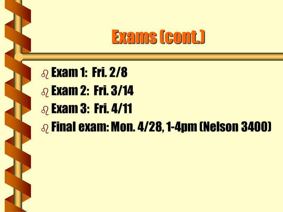 Exam Scores OriginalNewOriginalNew Exam 1 50609595 Exam 2 77778085 Exam 3 8484040 Final Exam 70709570 Unexcused absence