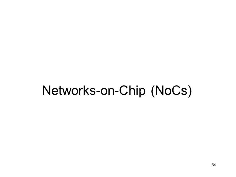 64 Networks-on-Chip (NoCs)