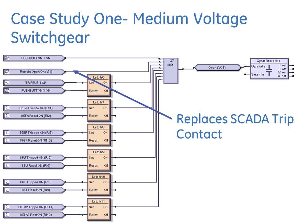 Case Study One- Medium Voltage Switchgear Replaces SCADA Trip Contact