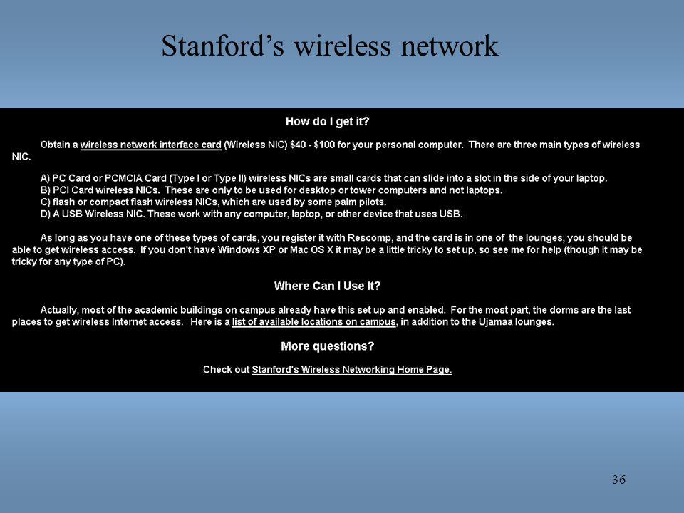 36 Stanfords wireless network