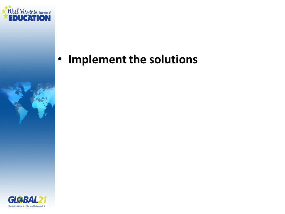 Implement the solutions