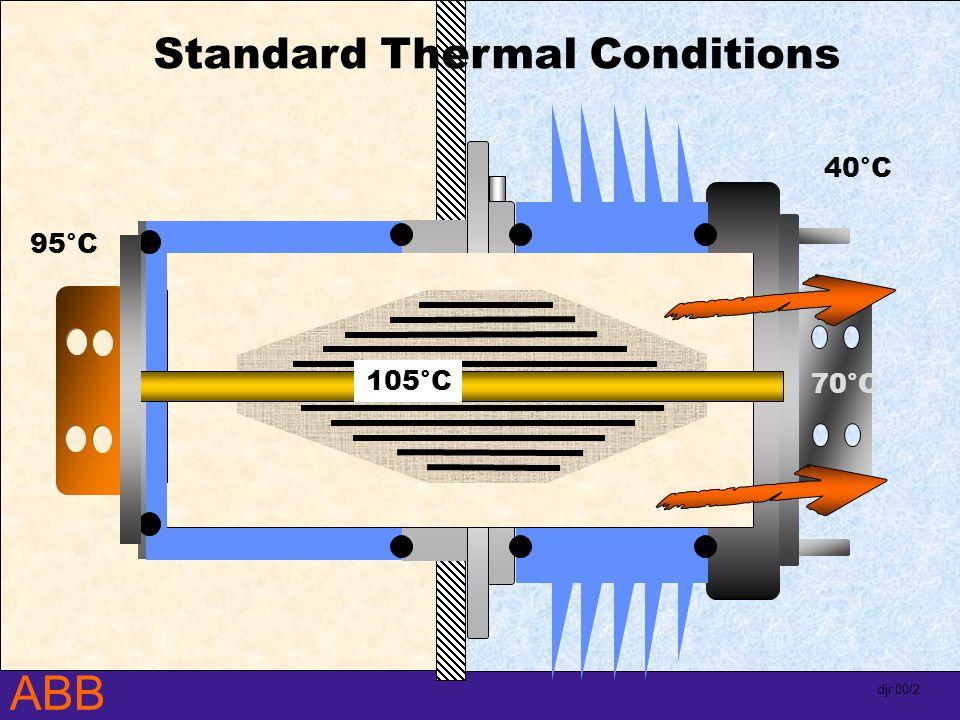 ABB djr 00/2 70°C 95°C 40°C Standard Thermal Conditions 105°C