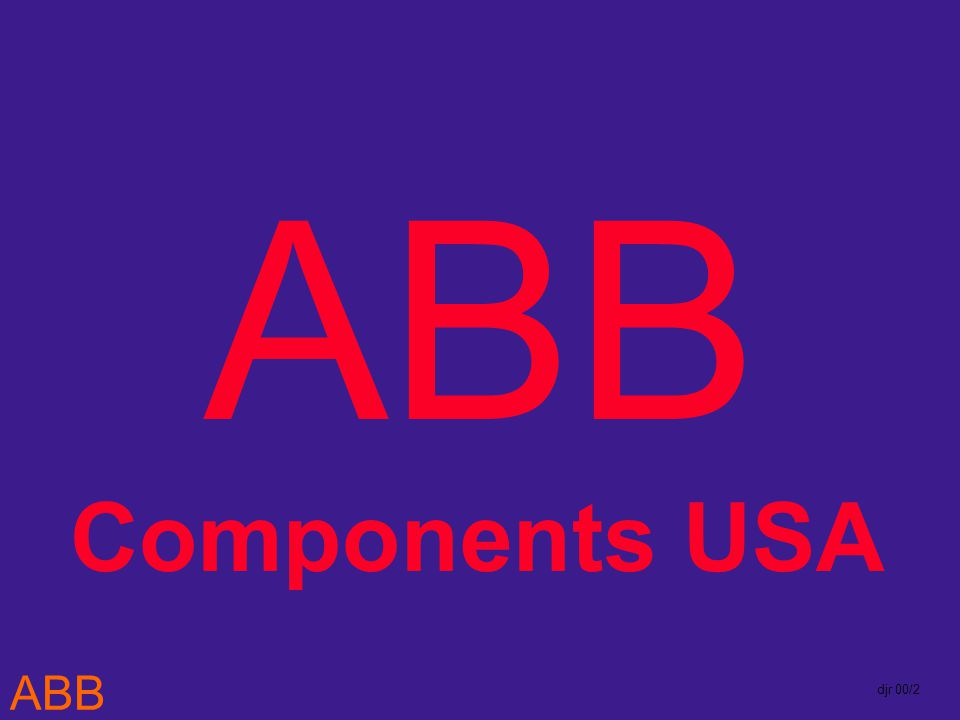 ABB djr 00/2 ABB Components USA