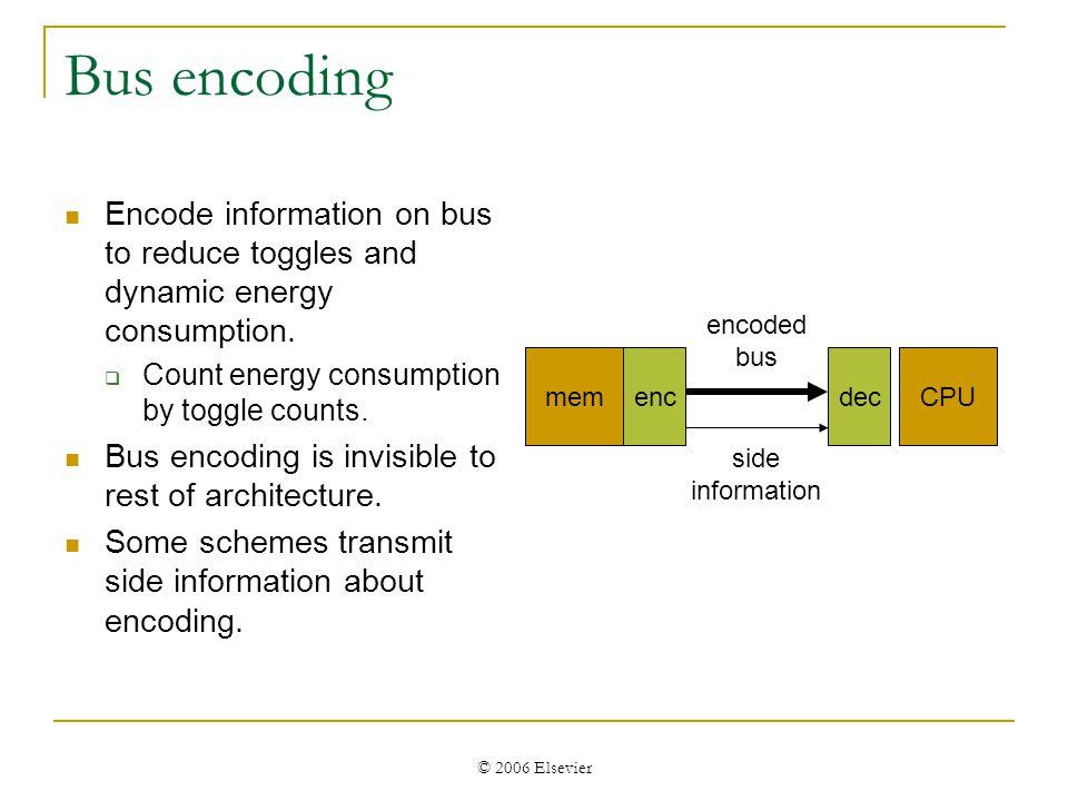 © 2006 Elsevier Array model Analytical model: Decoder.
