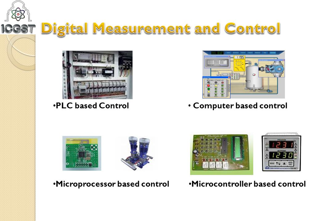 Computer based control PLC based Control Microprocessor based control Microcontroller based control