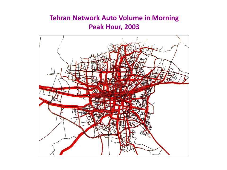 Tehran Network Auto Volume in Morning Peak Hour, 2003