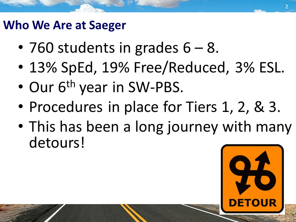 Who We Are at Saeger 760 students in grades 6 – 8.