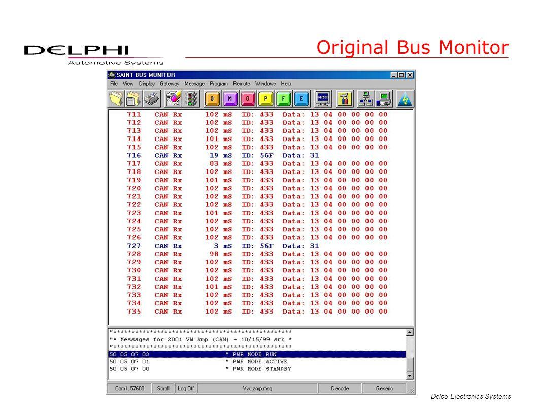 Delco Electronics Systems Original Bus Monitor