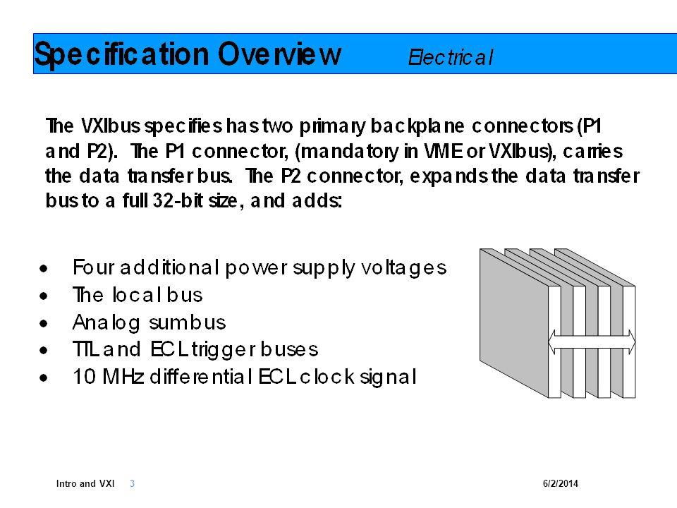 6/2/2014Intro and VXI 14 PXI VXI VM E