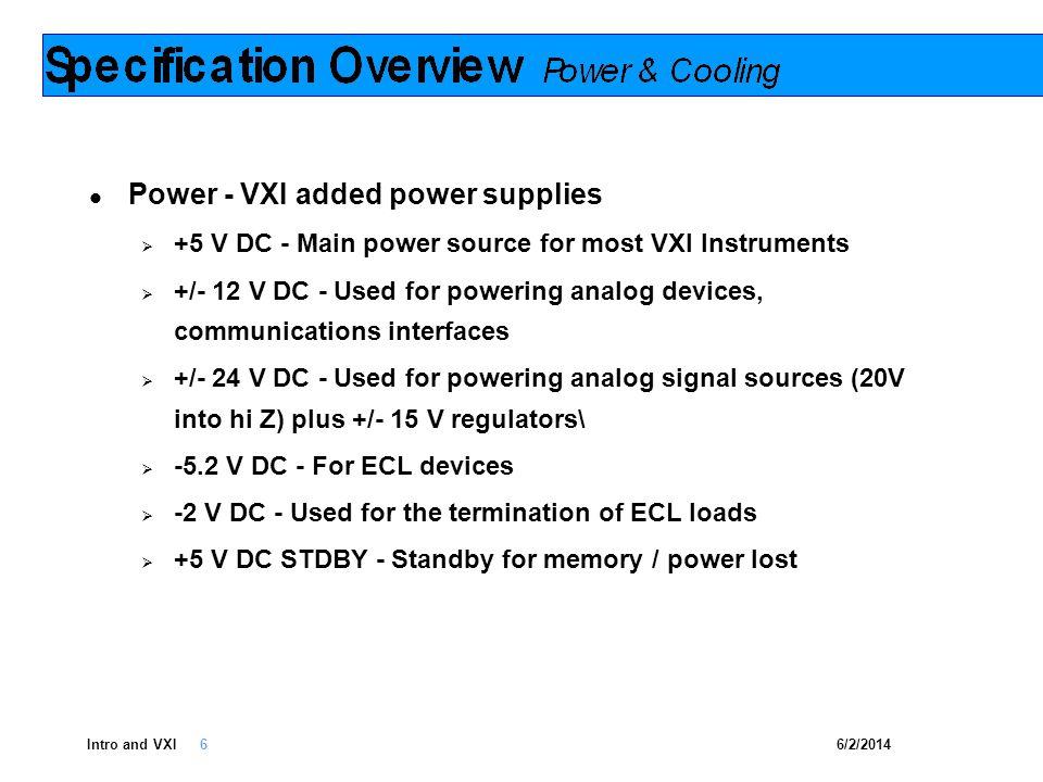 6/2/2014Intro and VXI 7