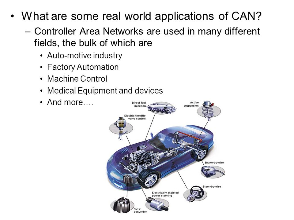 What are some real world applications of CAN.