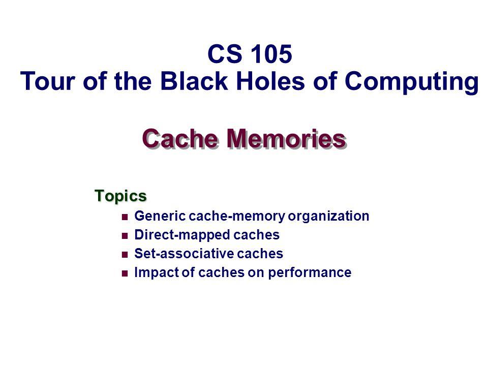 – 22 – CS105 Memory Mountain Main Routine /* mountain.c - Generate the memory mountain.