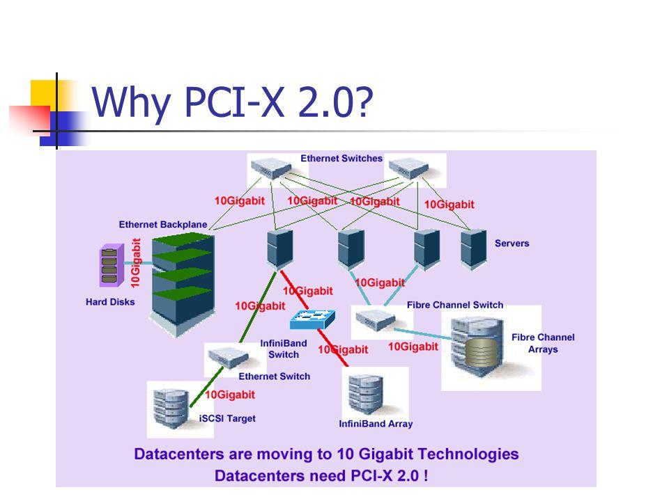 Why PCI-X 2.0?