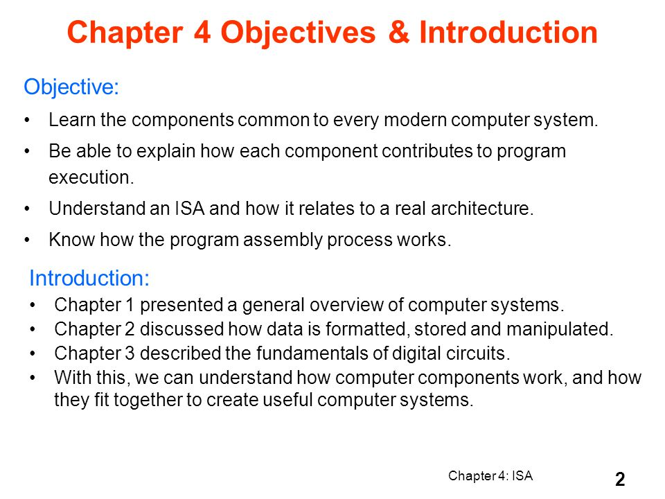 Chapter 4: ISA 13 Role of Clock in Processors single-cycle machine: does everything in one clock cycle instruction execution = up to 5 steps must complete 5th step before cycle ends clock signal instruction execution step 1/step 2/step 3/step 4/step 5 datapath stable register(s) written falling clock edge rising clock edge 4.4 Clocks