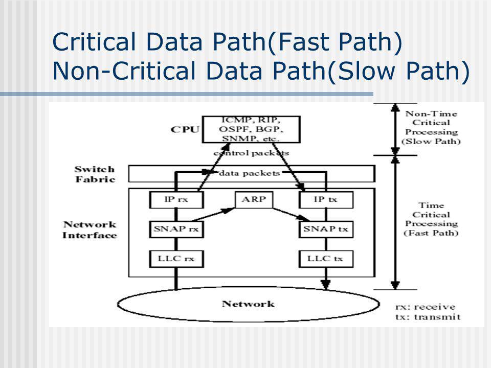 Critical Data Path(Fast Path) Non-Critical Data Path(Slow Path)