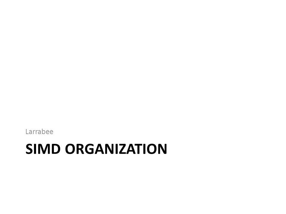 SIMD ORGANIZATION Larrabee